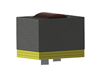 HWIA4434V Series Vertical Mount Helical Edge Wound (HEW) High Current Inductors